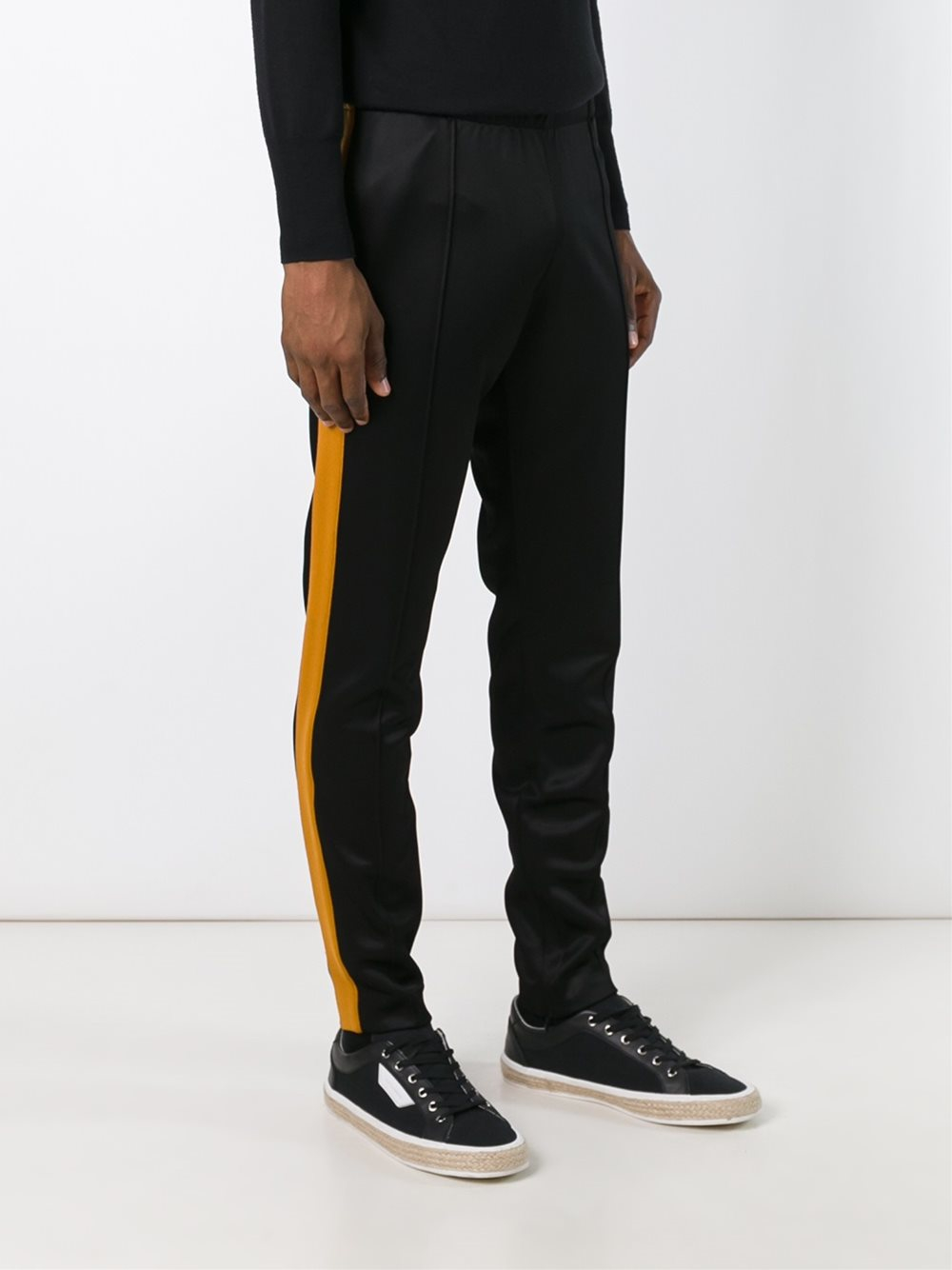 Burberry Side Stripe Trousers in Black for Men
