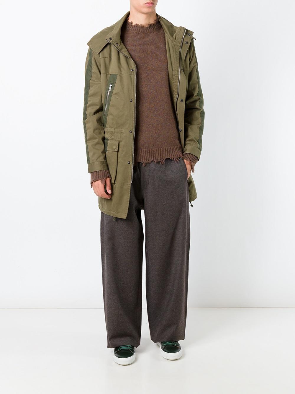 Dolce & Gabbana Wool Wide Leg Trousers in Brown for Men