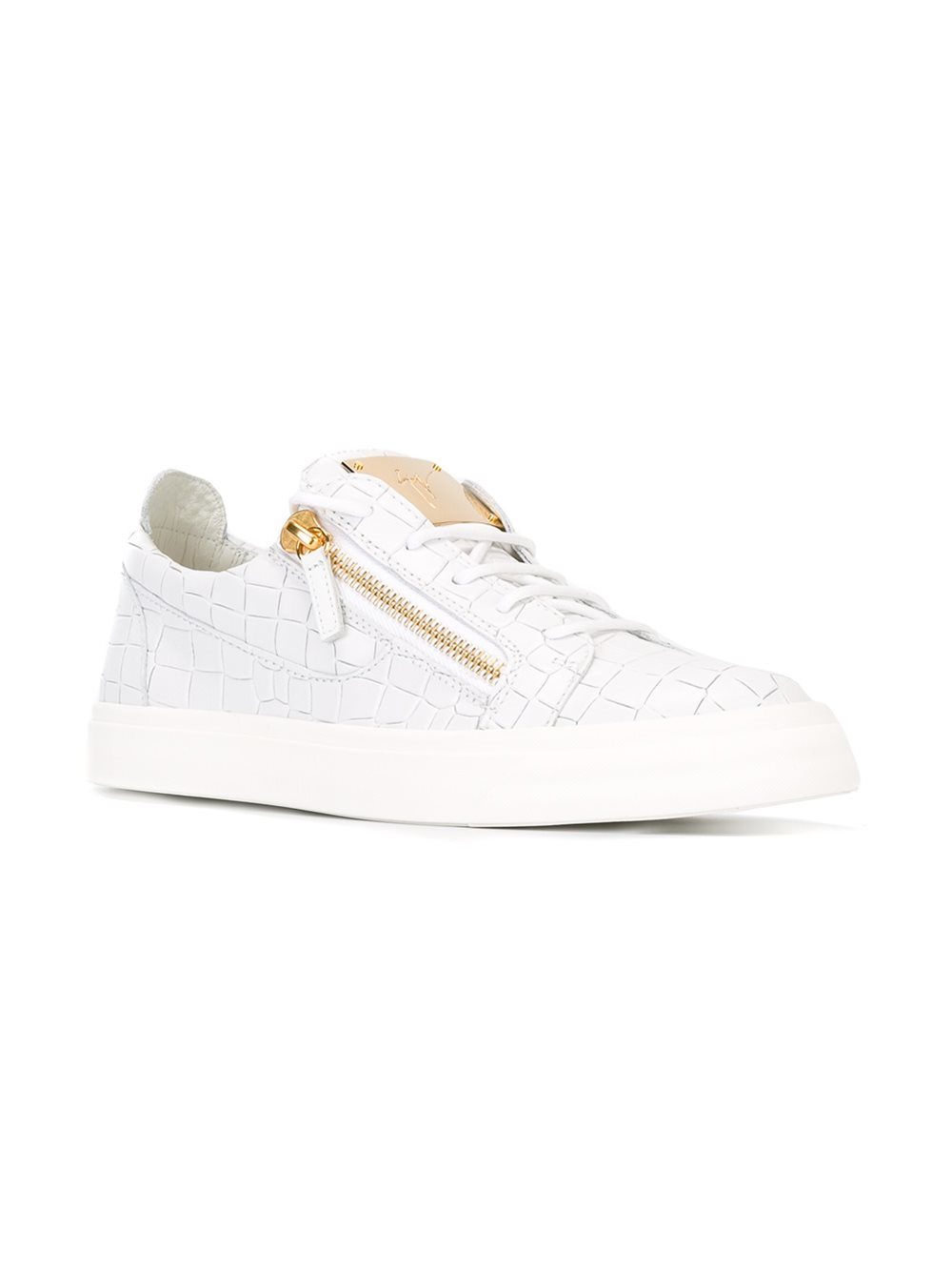Giuseppe Zanotti Leather 'frankie' Low Top Sneakers in White