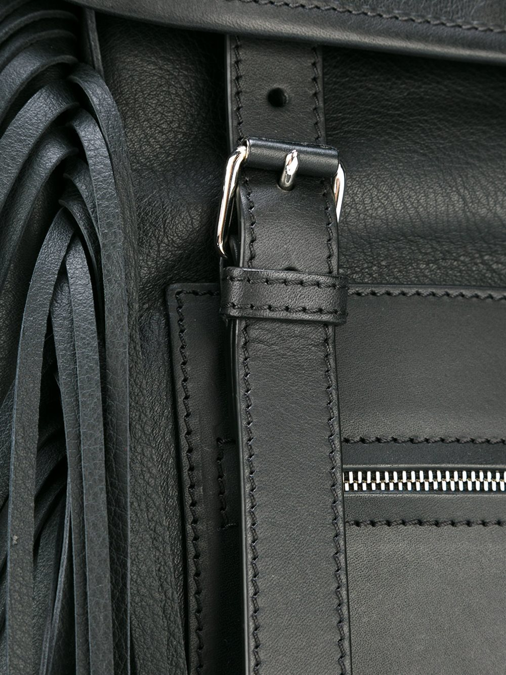 Givenchy Leather 'rider' Fringed Backpack in Black