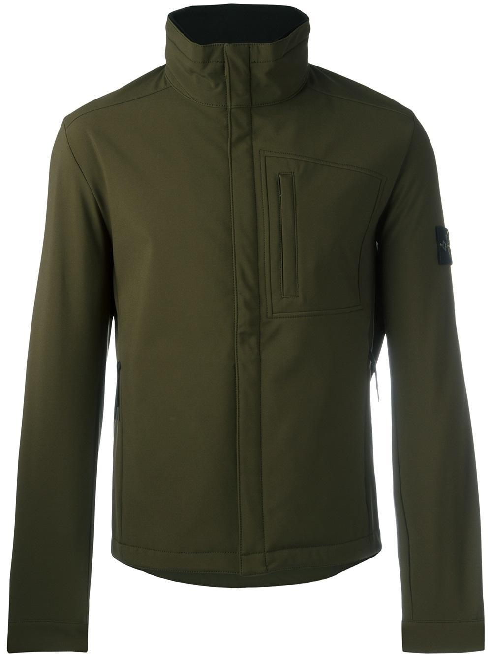 lyst stone island classic windbreaker in green for men. Black Bedroom Furniture Sets. Home Design Ideas