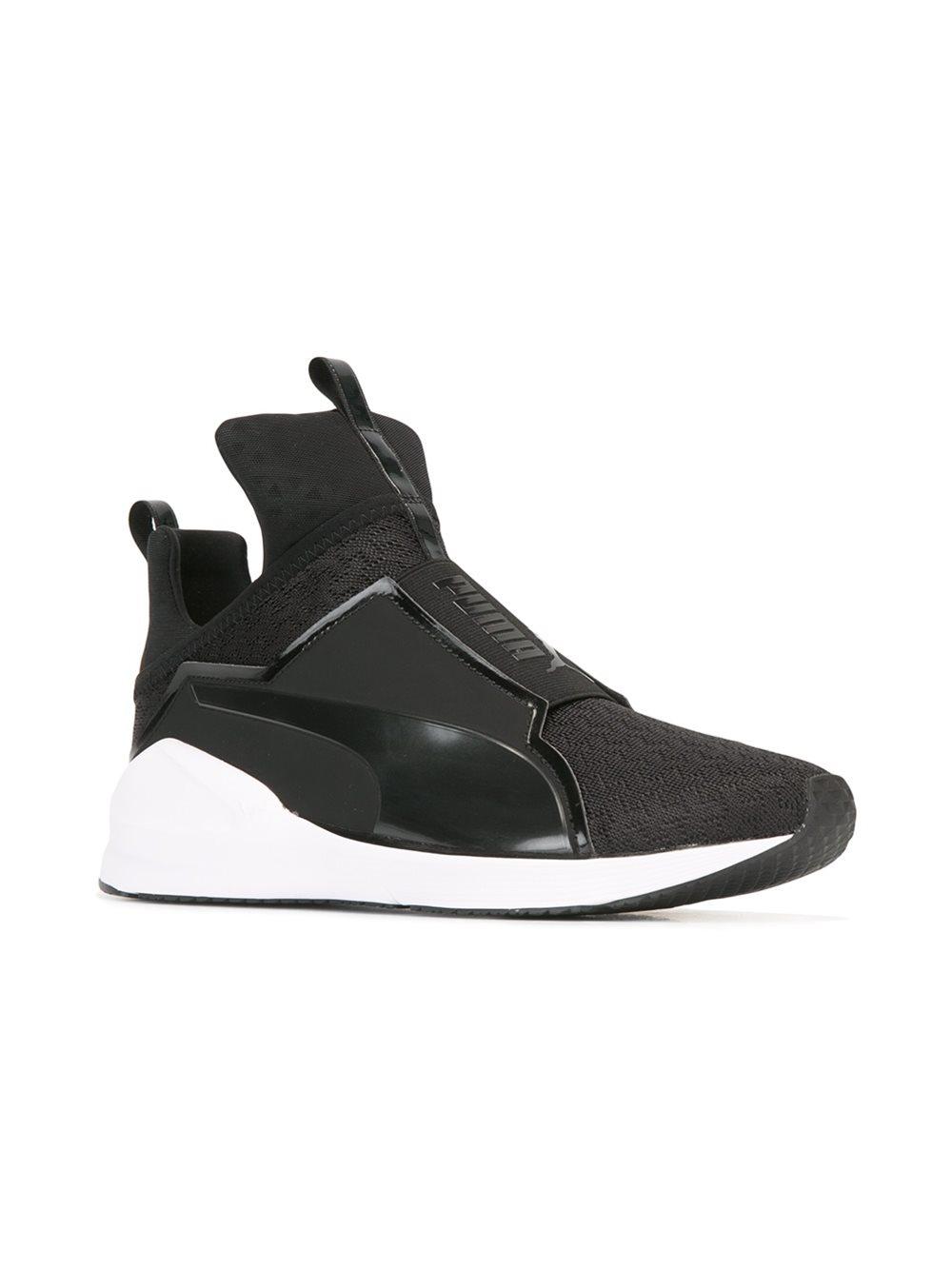 lyst puma slip on sneakers in black. Black Bedroom Furniture Sets. Home Design Ideas