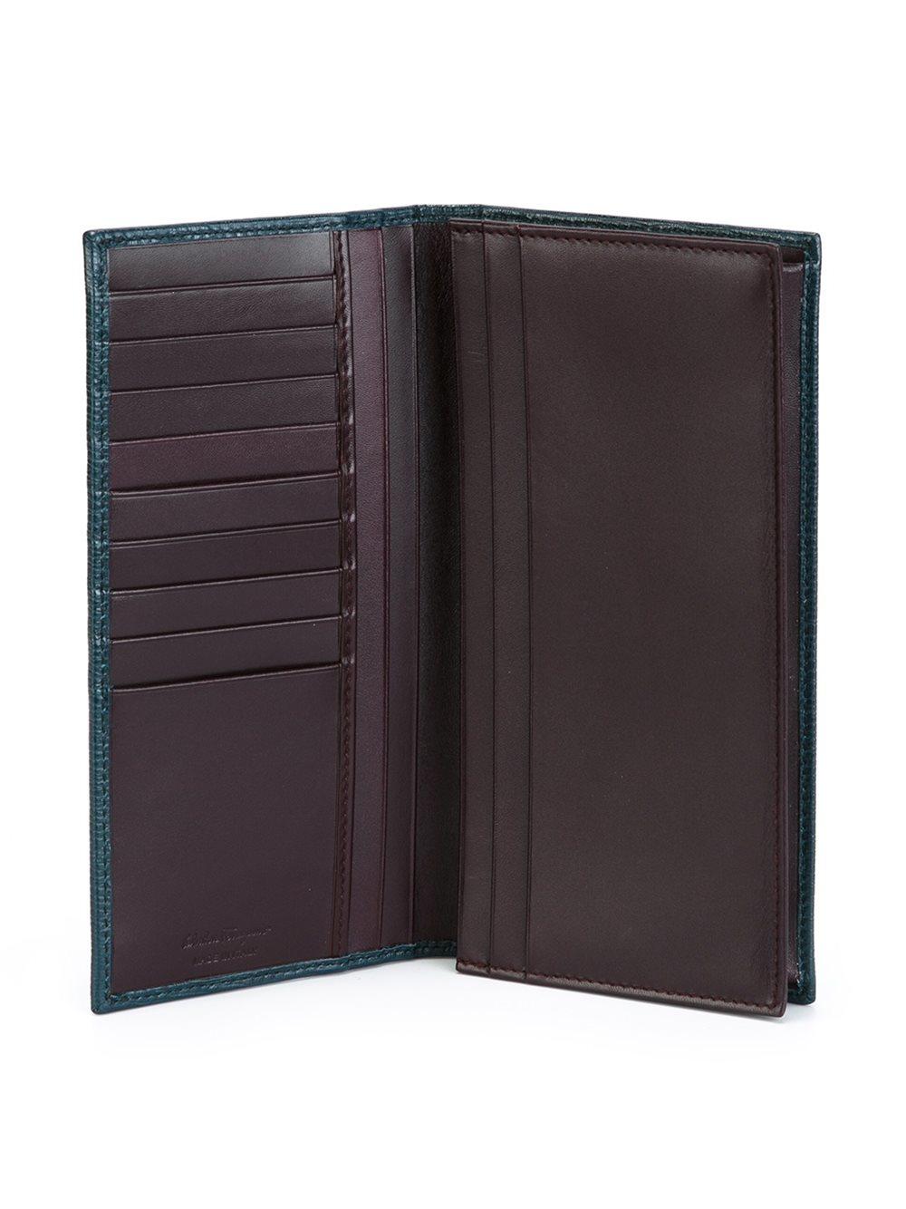 Ferragamo Long Billfold Wallet in Blue for Men Lyst aa514f8c833ce