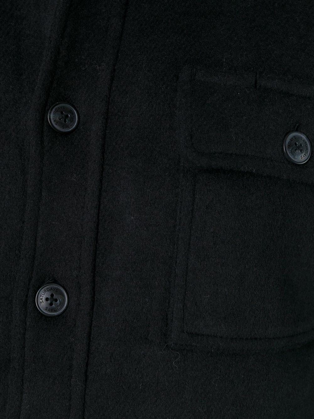 Saturdays NYC Wool Classic Shirt Jacket in Black for Men