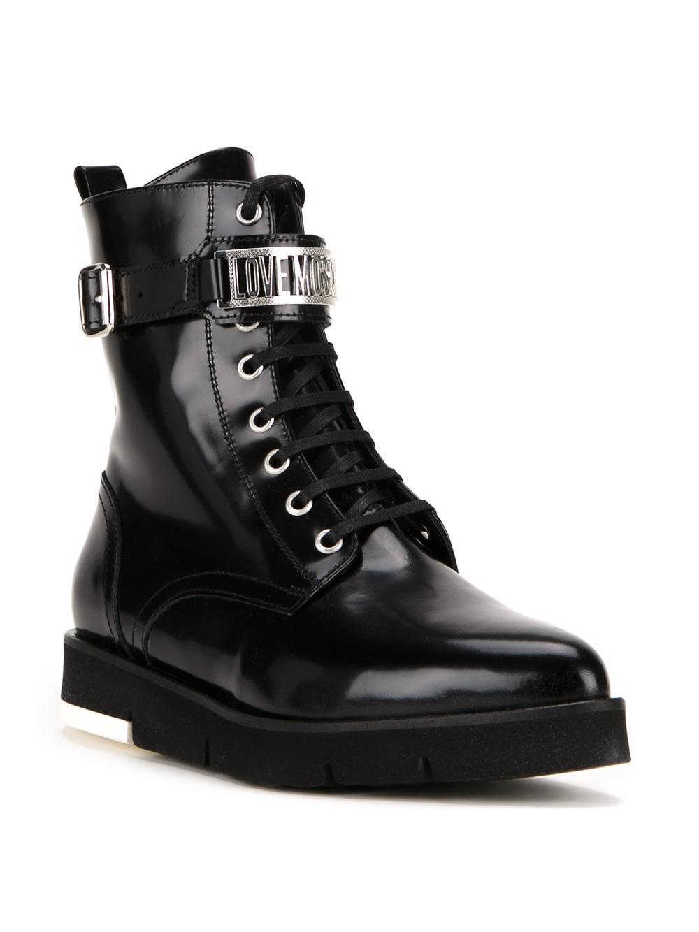 Love Moschino Ankle Boot In Black Lyst