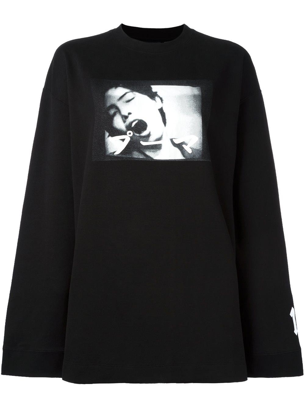 Lyst Puma Fenty X Rihanna Dames Sweatshirt In Black