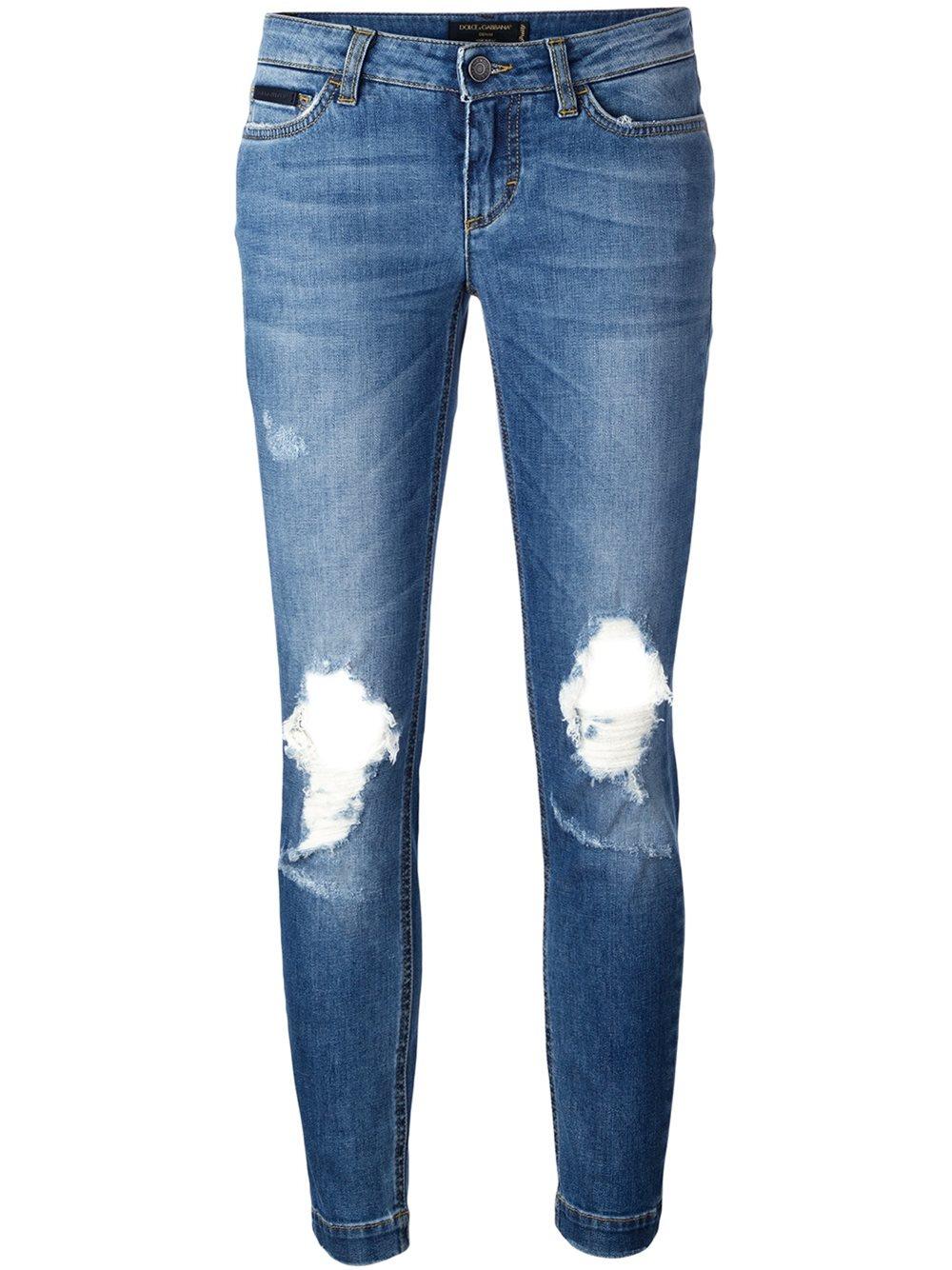 dolce gabbana 39 pretty 39 jeans in blue lyst. Black Bedroom Furniture Sets. Home Design Ideas