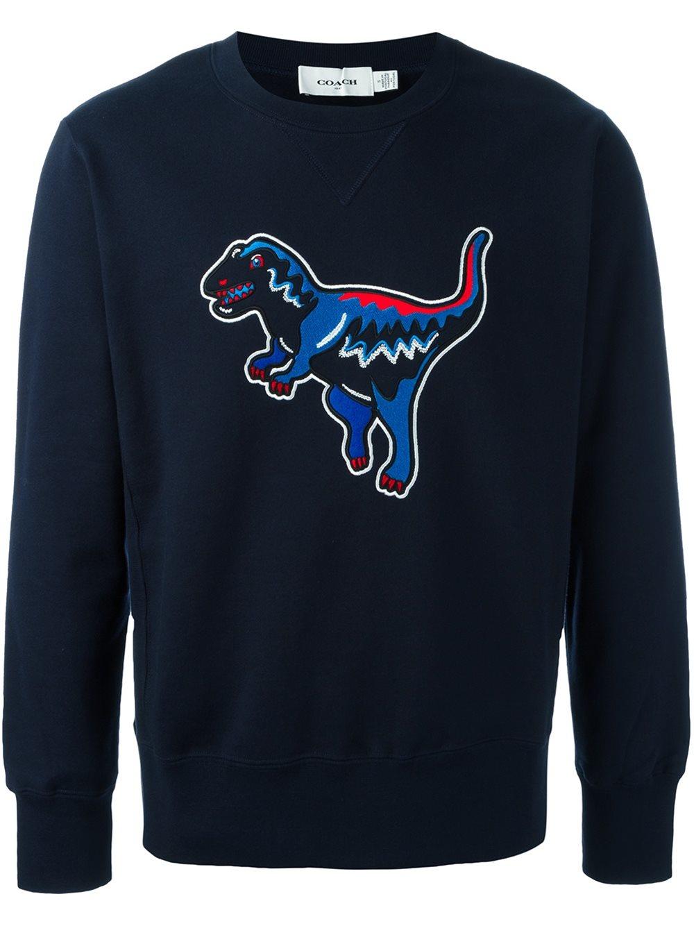 Lyst Coach Dinosaur Patch Sweatshirt In Blue For Men