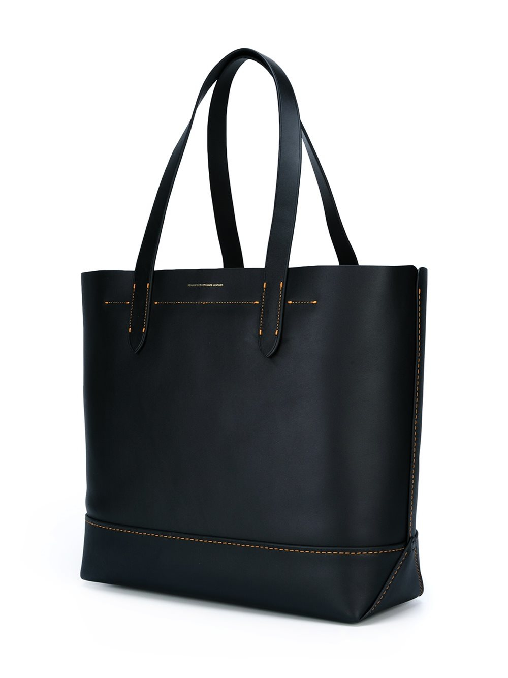 COACH Leather Dinosaur Patch Tote Bag in Black