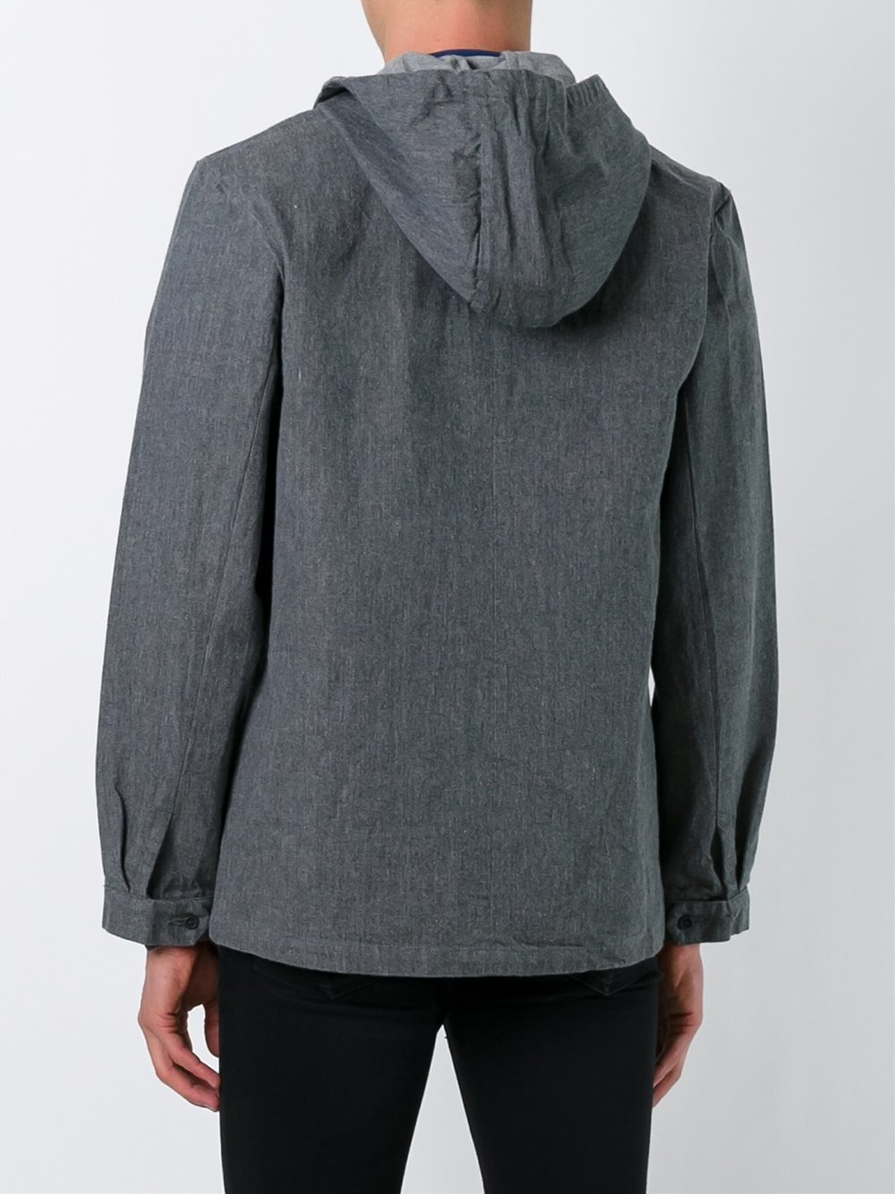 Sunnei Cotton Boxy Hooded Jacket in Grey (Grey) for Men