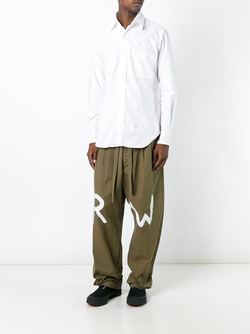 Loewe Cotton Rw Trousers in Green for Men