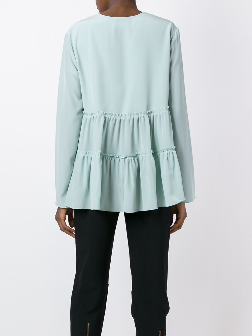 Chloé Tiered Blouse in Blue