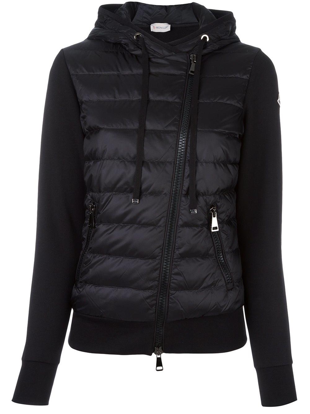 8c588cc500e Moncler Women's Fur-trimmed Hood gene Puffer Jacket in Black - Lyst