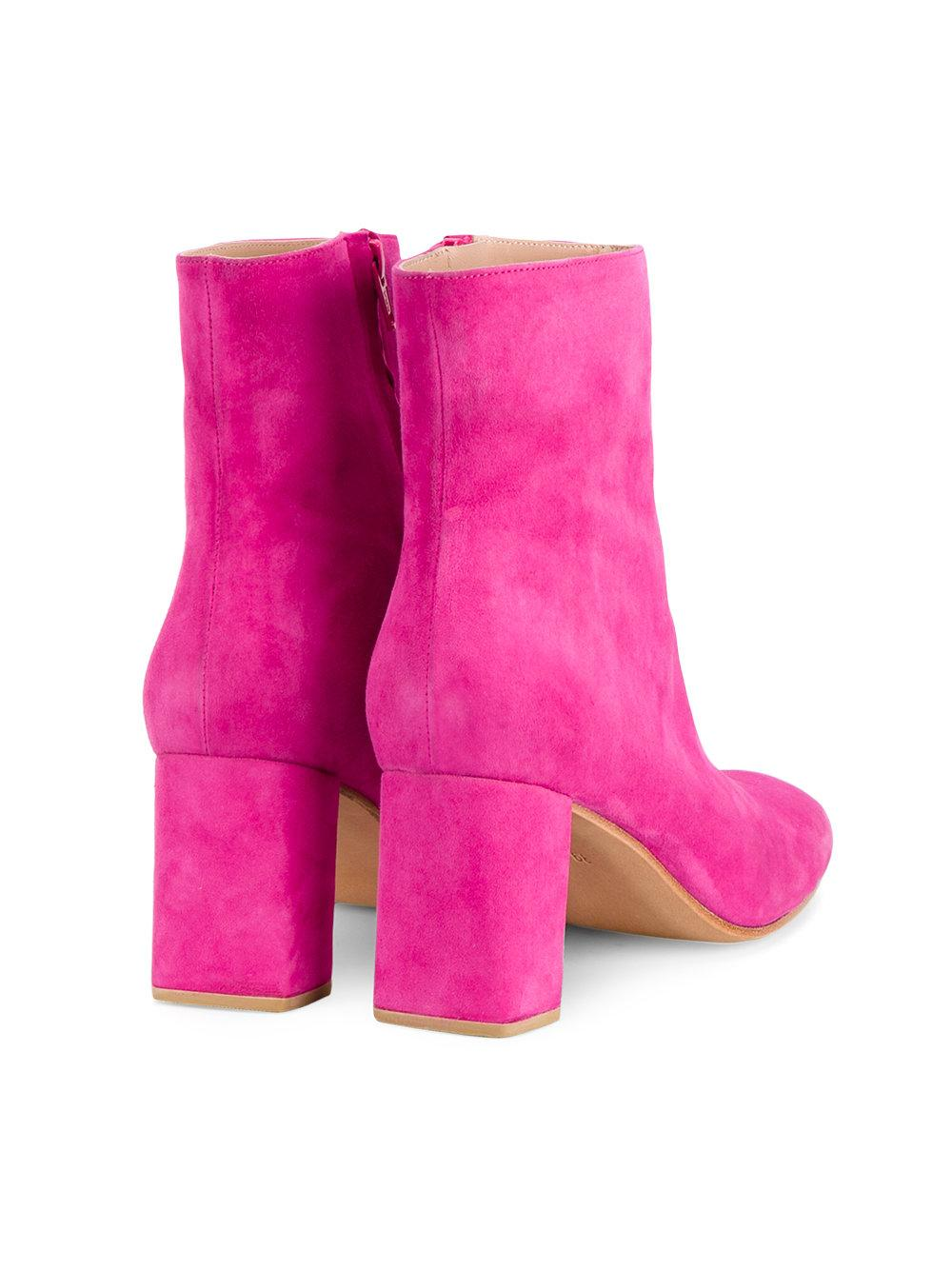 Maryam Nassir Zadeh Suede Ankle Boots in Pink/Purple (Pink)