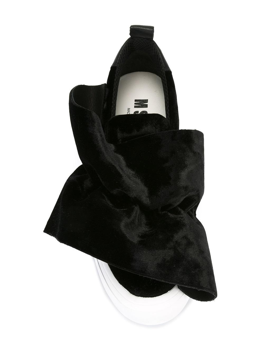 MSGM Synthetic Oversized Knot Platform Sneakers in Black