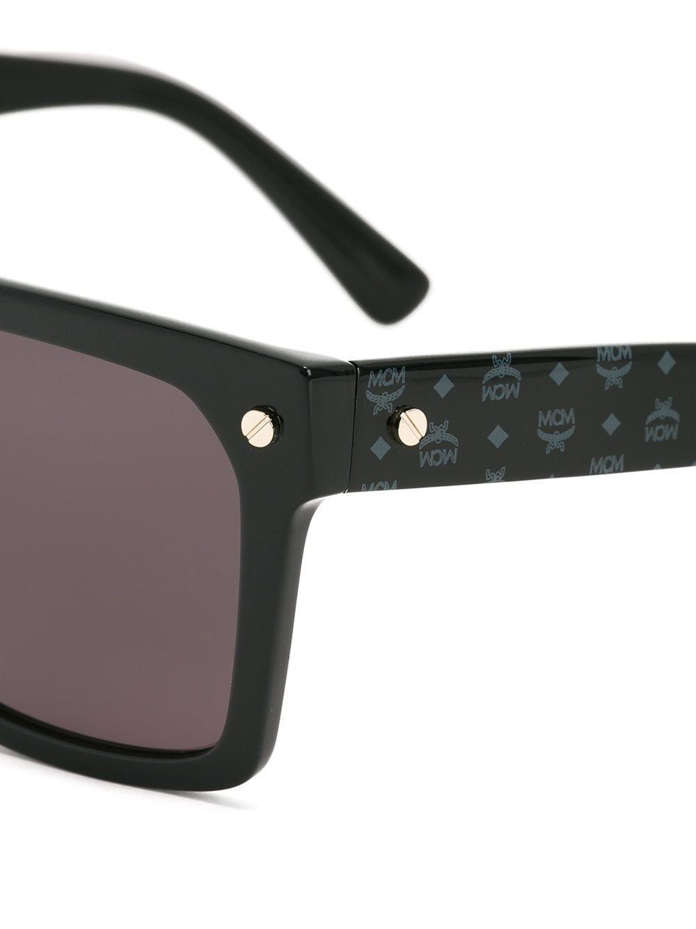 MCM 'square Visetos' Sunglasses in Black
