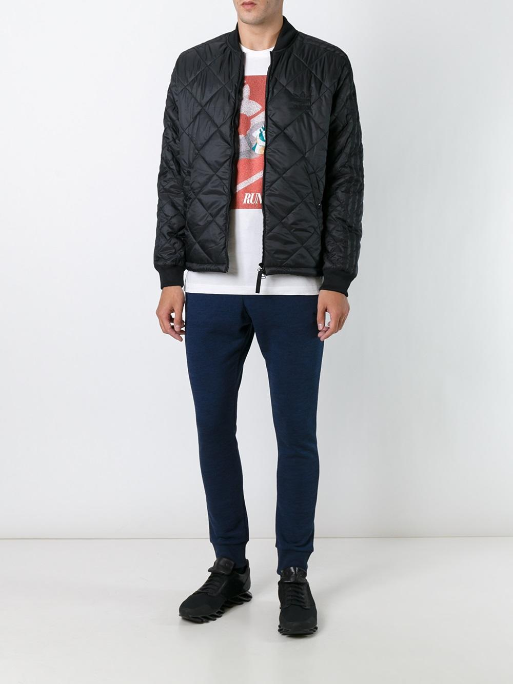 Adidas Originals Quilted Superstar Bomber Jacket In