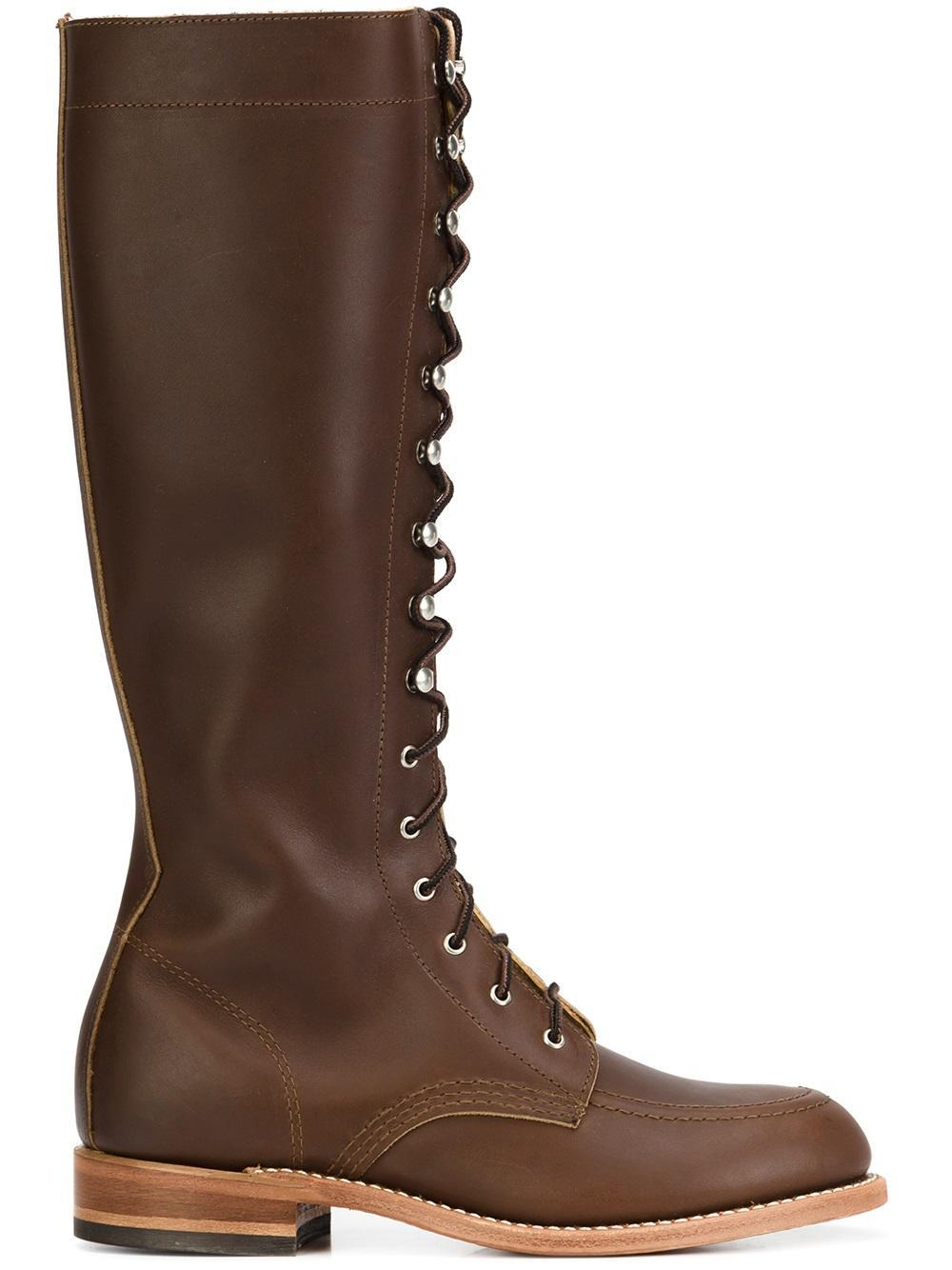 Red Wing Lace Up Boots In Brown Lyst