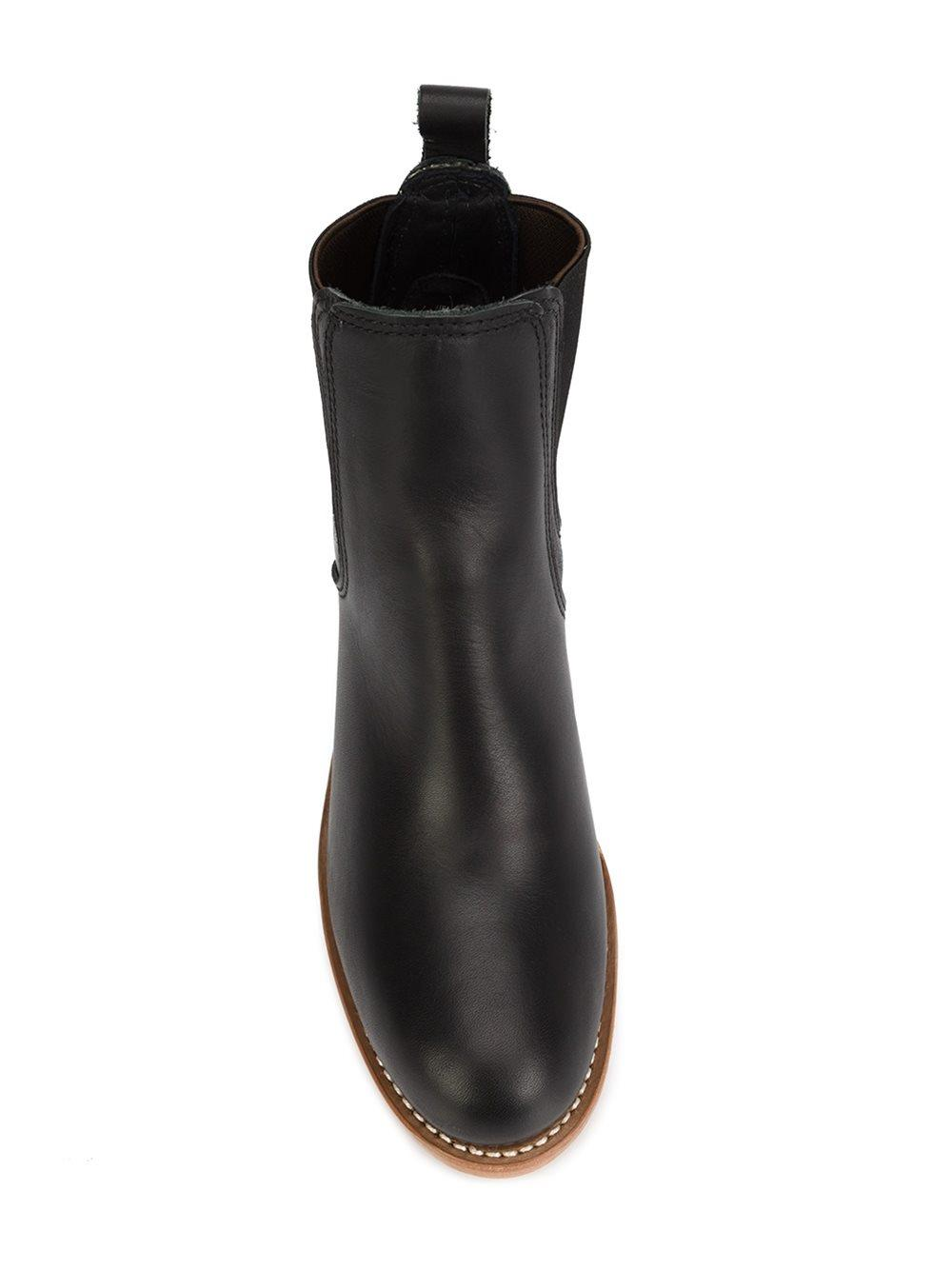 Red Wing Leather Chelsea Boots in Black