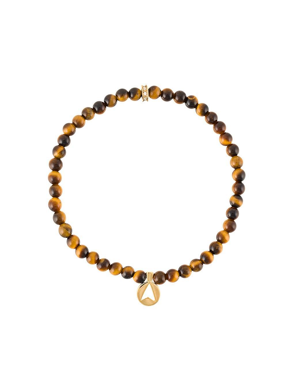 Northskull Tiger Eye Bracelet In Brown For Men Lyst
