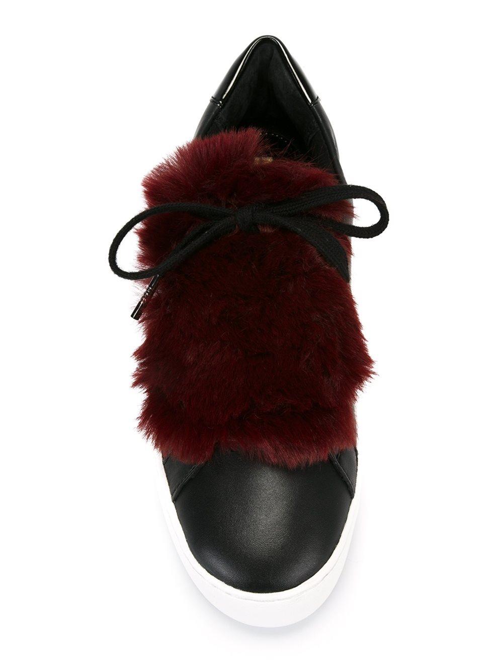 MICHAEL Michael Kors Leather 'poppy' Sneakers in Black