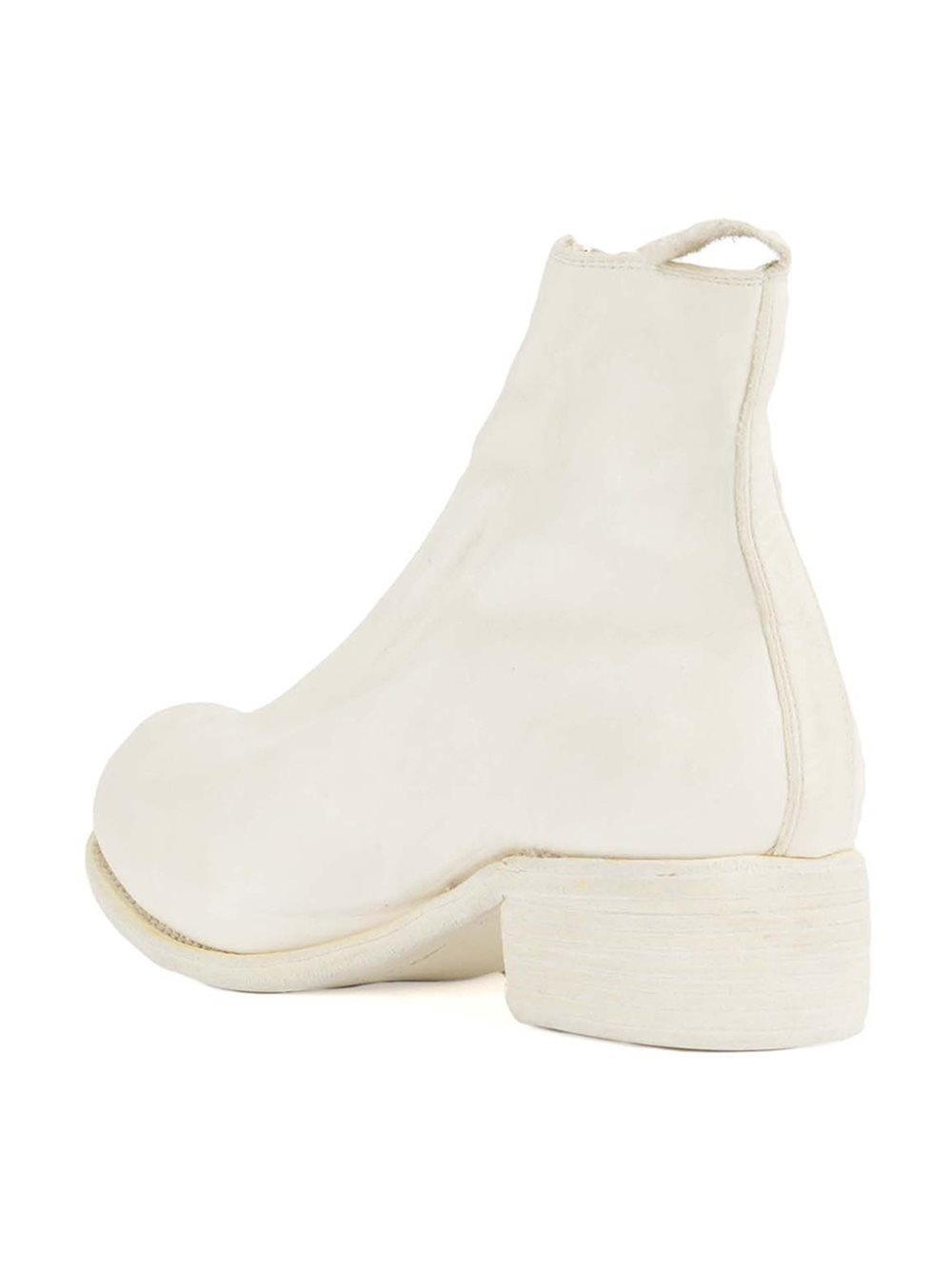 Guidi Leather - Front Zip Ankle Boots - Men - Deer Skin - 41 in White