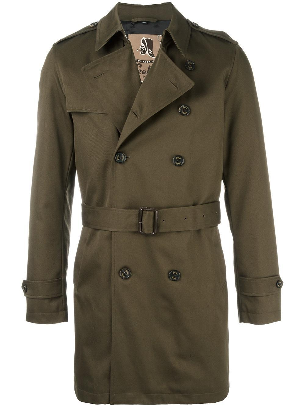 Sealup Classic Mid Trenchcoat in Green for Men - Lyst