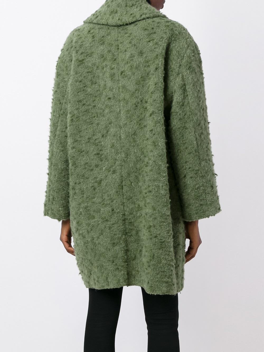 Forte Forte Silk Oversized Boucle Coat In Green Lyst