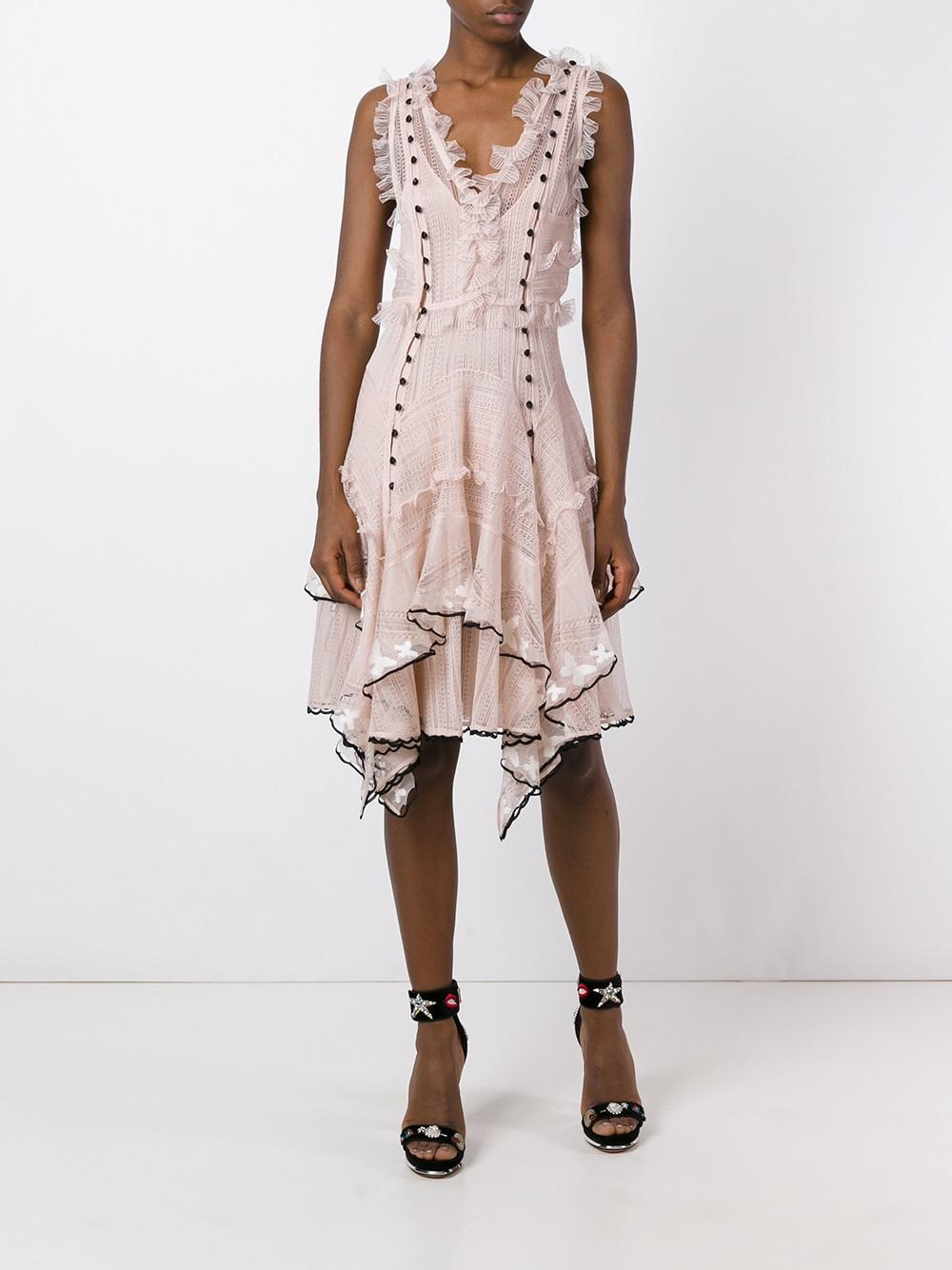 Alexander mcqueen butterfly embroidered dress lyst