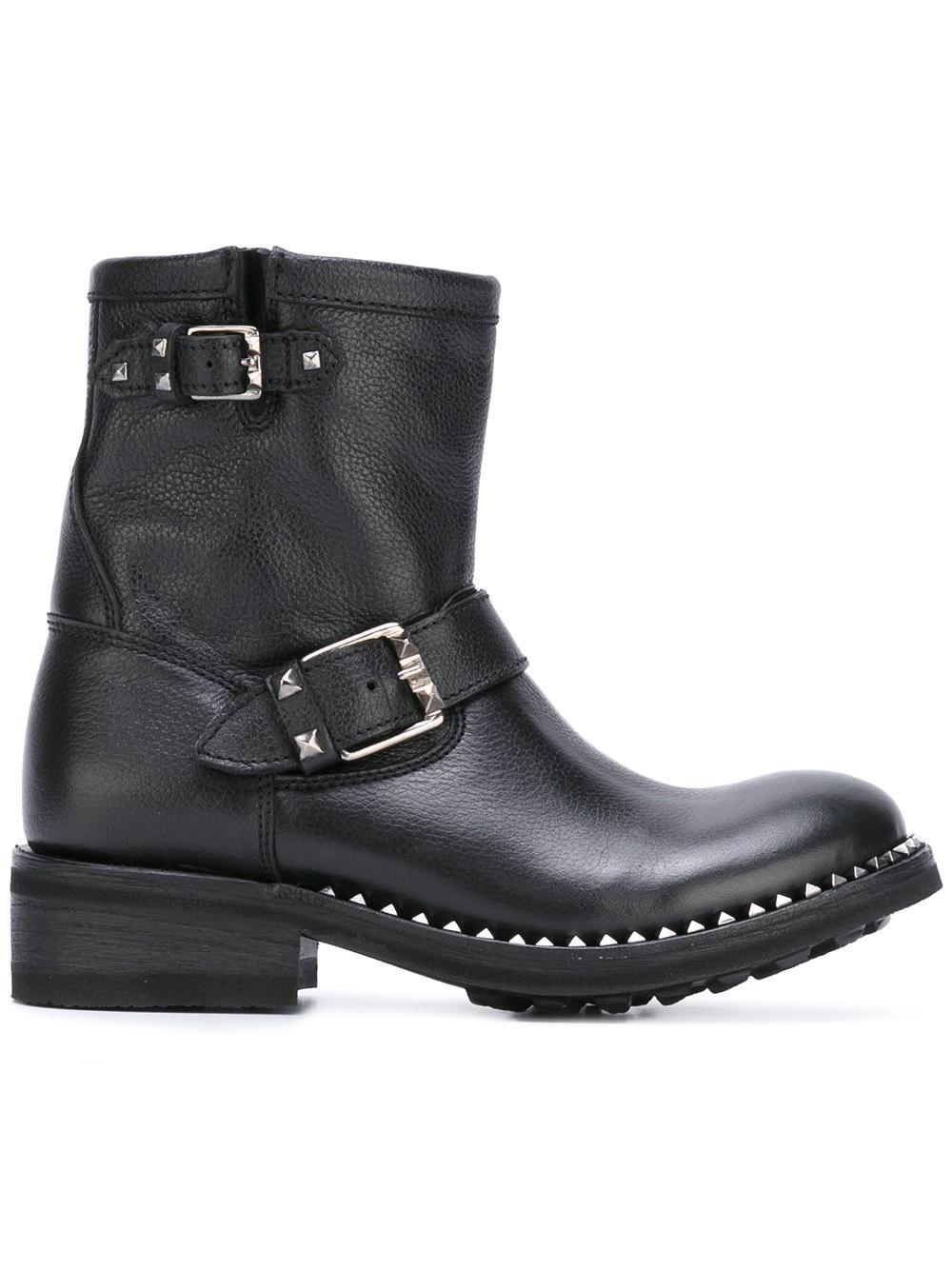 Ash Leather 'truth Destroyer' Boots in Black