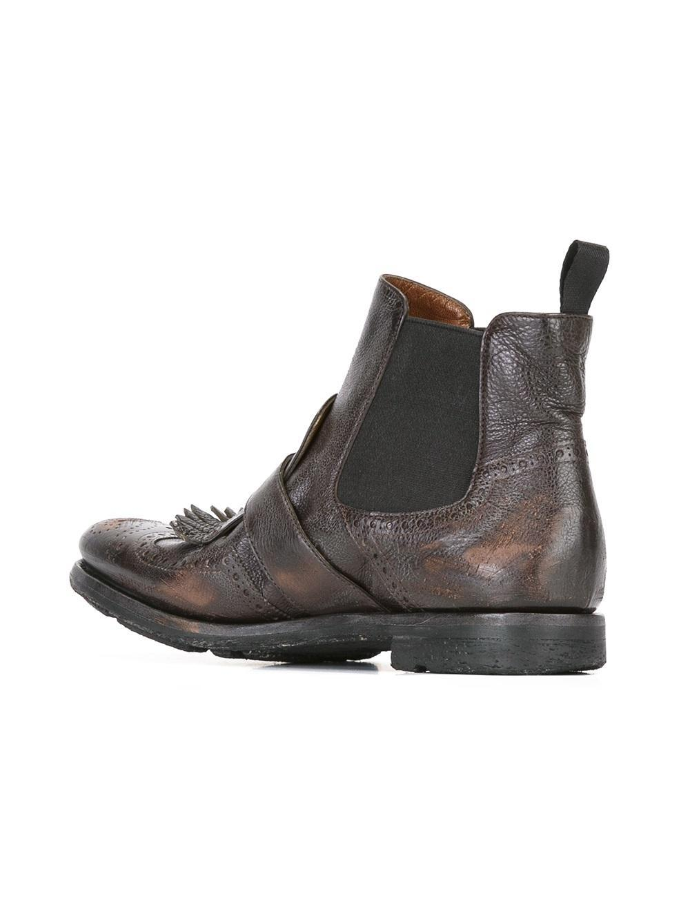 Church's Leather 'shanghai' Chelsea Boots in Brown