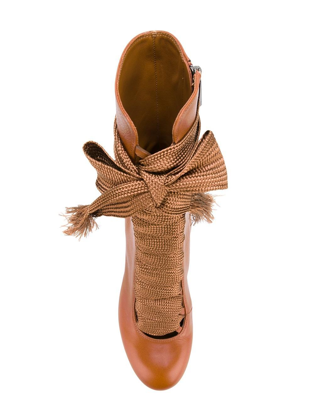 Chloé Leather Chloé 'harper' Boots in Brown
