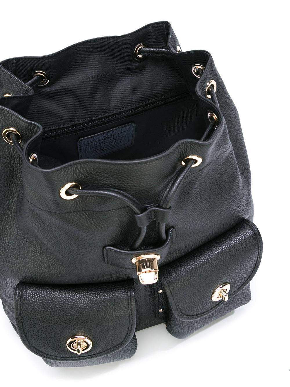 COACH Patch Pocket Backpack in Black - Lyst