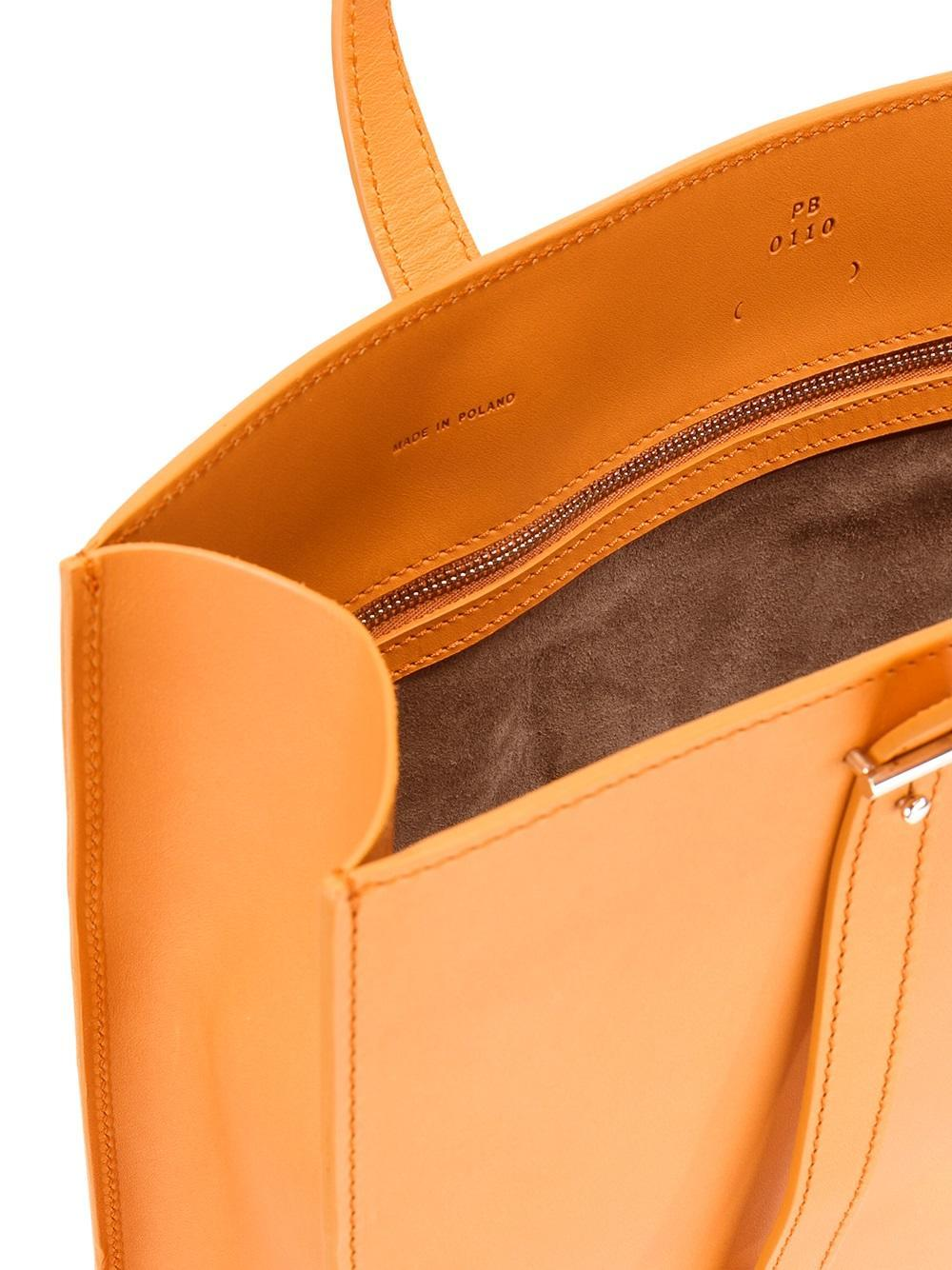 PB 0110 Leather Rectangular Tote