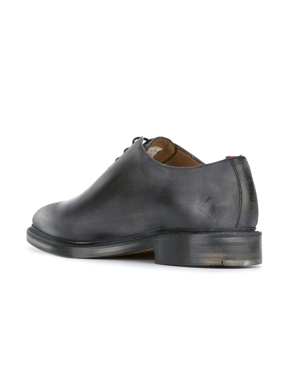 Thom Browne Leather Classic Derby Shoes in Black for Men