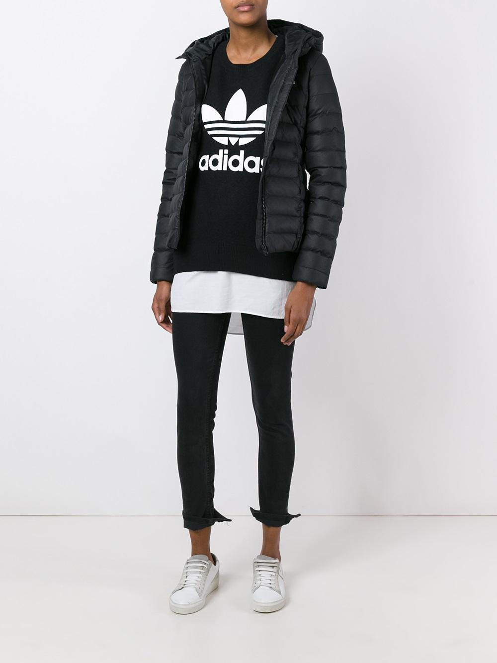 adidas Originals Synthetic Slim Fit Padded Jacket in Black ...