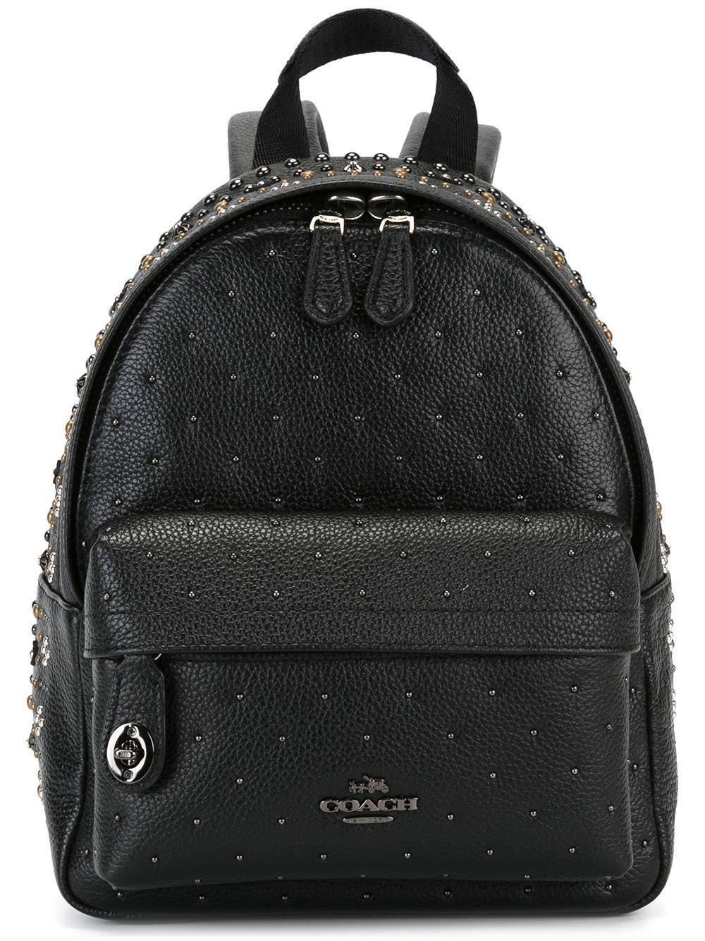 74471fac24 ... new arrivals lyst coach mini studded backpack in black 70321 ce2f5
