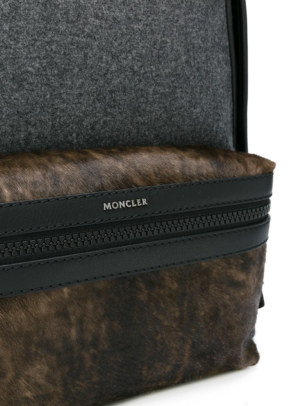 Moncler Wool 'new Romeo' Backpack in Grey (Grey) for Men