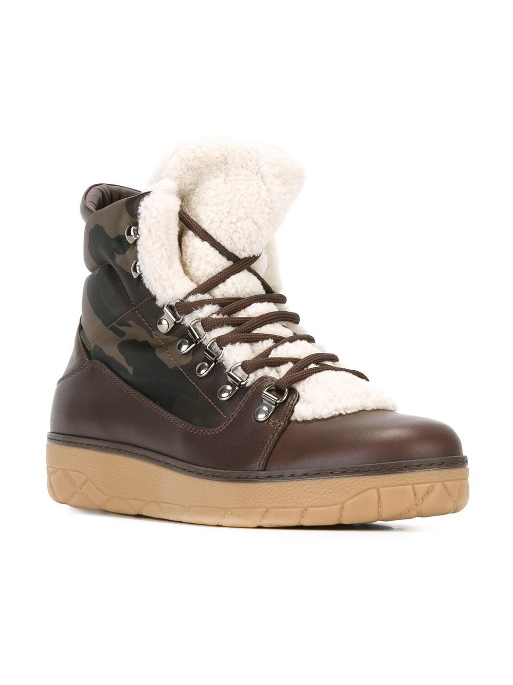 Moncler Aile Froide Ankle Boots In Brown For Men Lyst