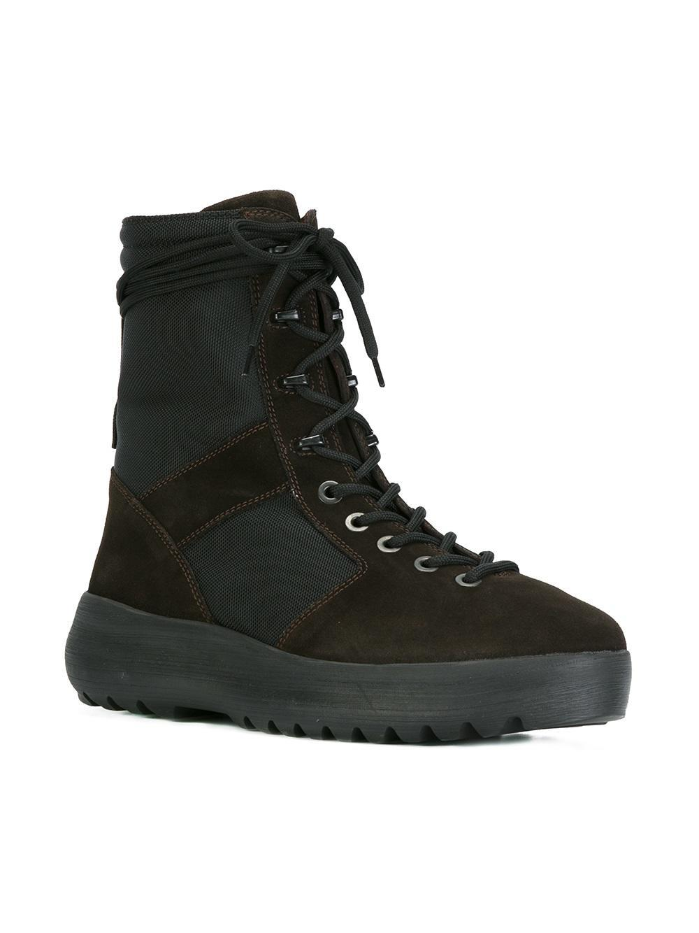 Yeezy Leather Season 3 Military Boots In Brown For Men Lyst