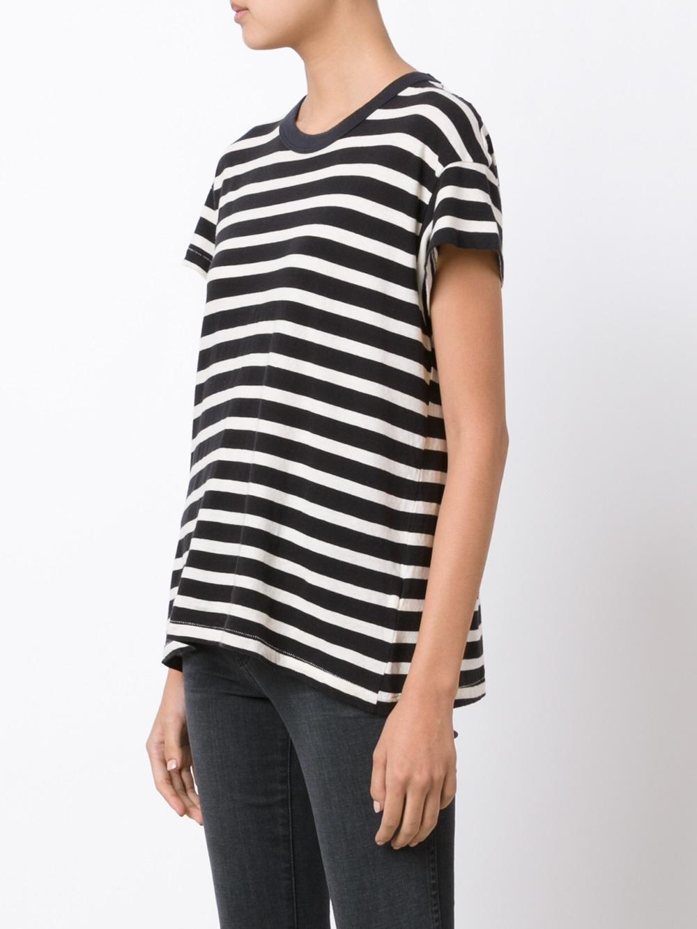 The Great Striped T Shirt In White Lyst