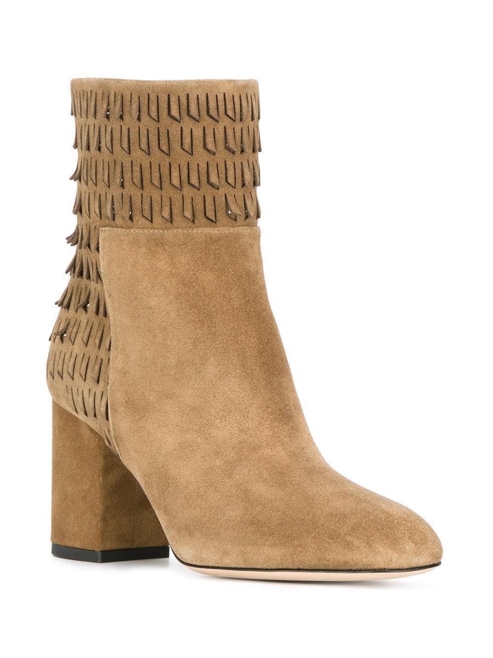 Lyst Elie Saab Fringed Detailing Ankle Boots
