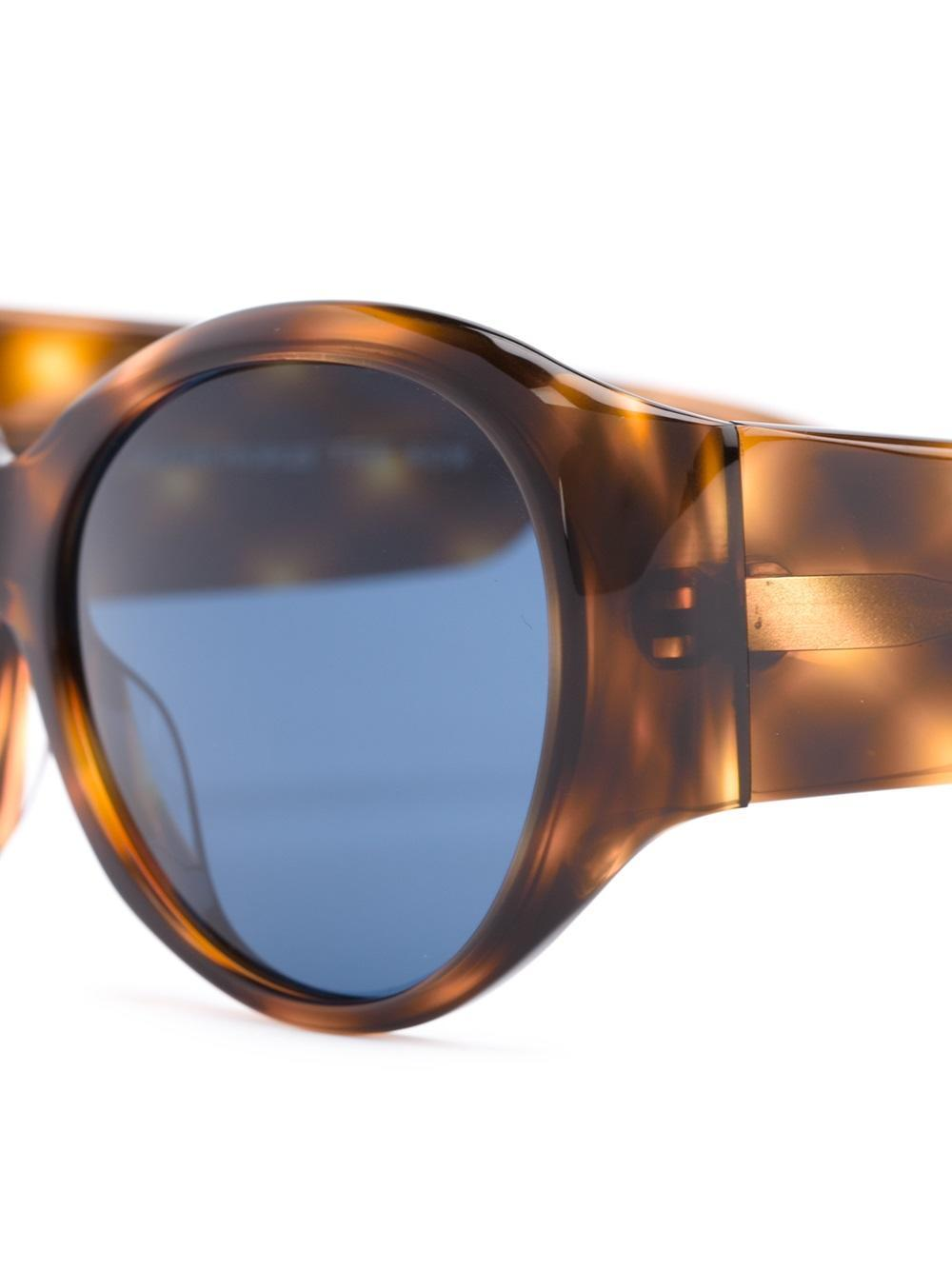 Oliver Peoples Don't Bother Me Oval Sunglasses in Brown