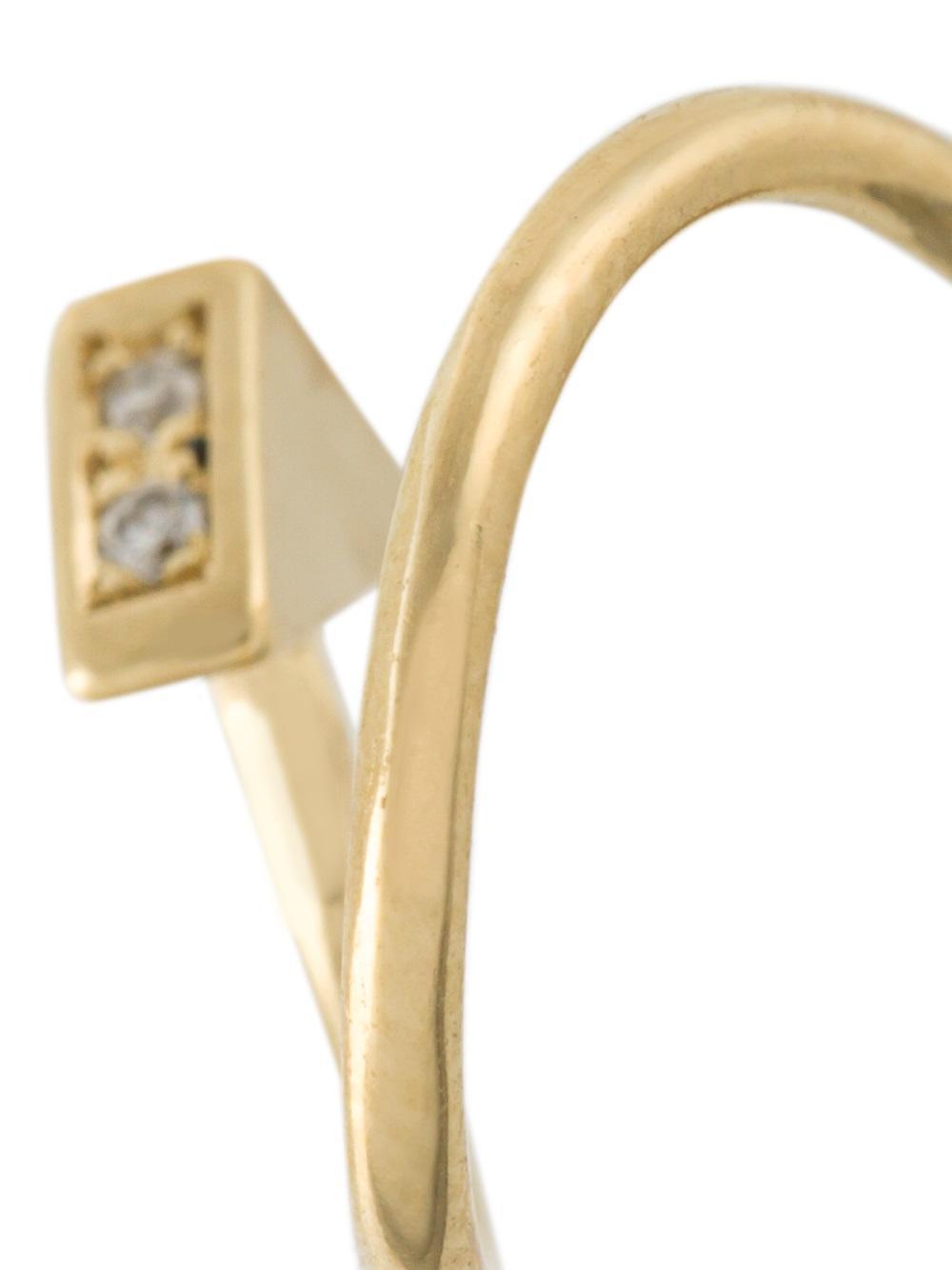 Maria Black 'ari' Twirl Diamond Earring in Yellow/Orange (Metallic)