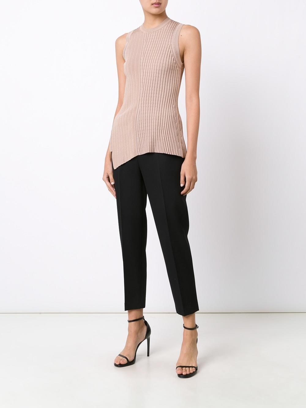 Jason Wu Ribbed Asymmetric Tank Top