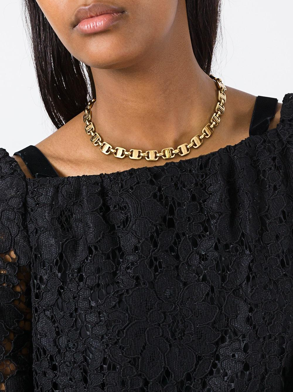 Ferragamo Vara Plate Necklace