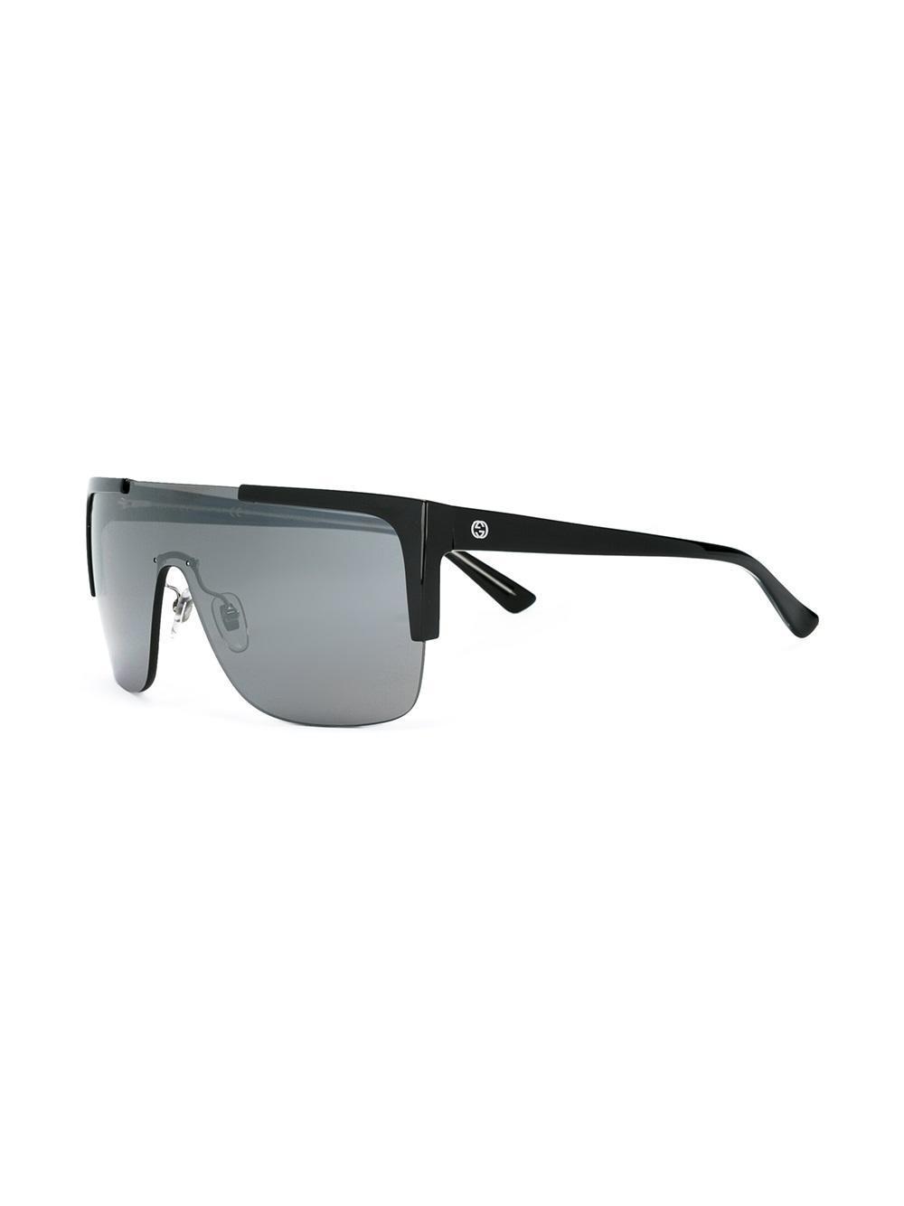 e2eb240f70 Lyst - Gucci Oversized Sunglasses in Black for Men