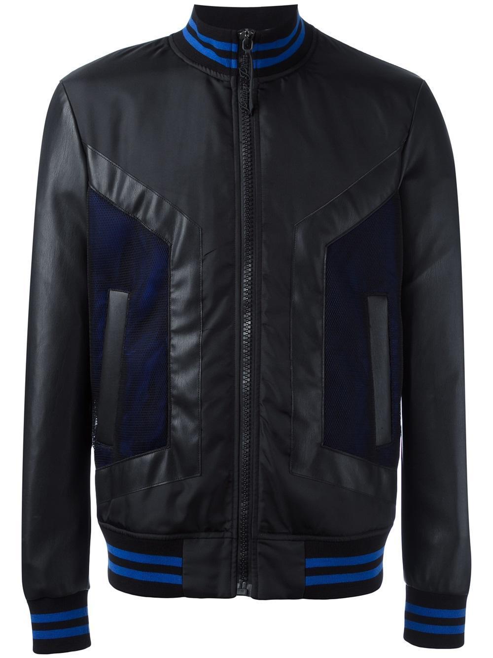 philipp plein 39 centaru 39 bomber jacket in black for men lyst. Black Bedroom Furniture Sets. Home Design Ideas