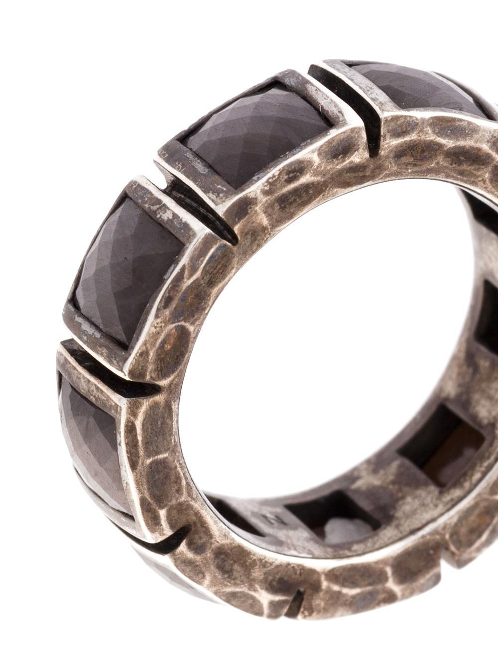Nak armstrong geometric ring in gray lyst for Nak armstrong wedding ring