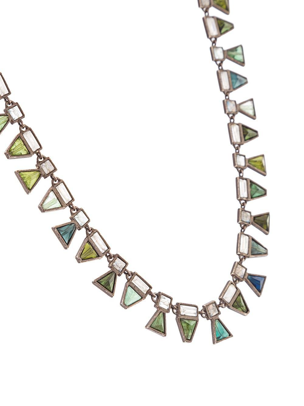 Nak Armstrong Geometric Short Necklace in Blue